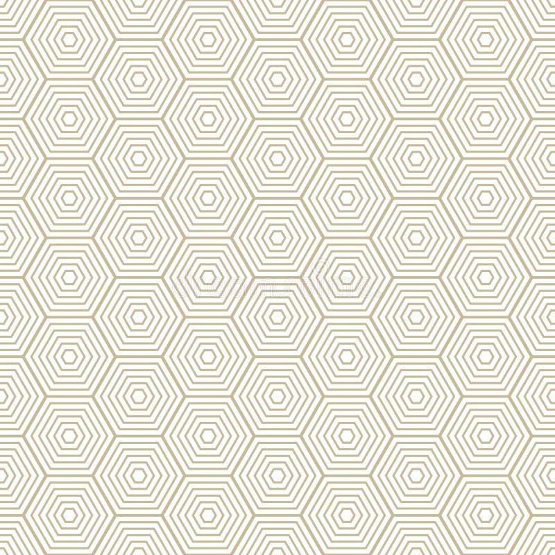 Textura à moda moderna do teste padrão do diamante com rombos, quadrados Vetor sem emenda Repetindo telhas geométricas Ouro e bra ilustração do vetor