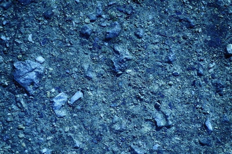 Textura à terra ultra azul, superfície da areia, fundo de pedra, bom para o elemento do projeto imagem de stock royalty free