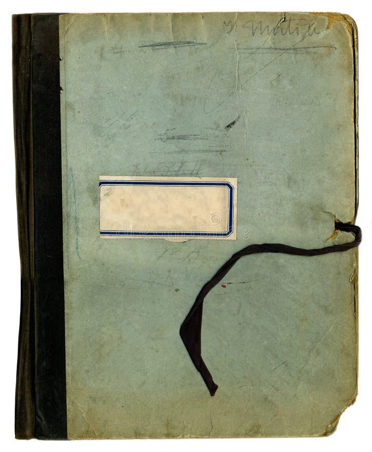 Textura áspera de la carpeta o del cuaderno de la escuela vieja fotos de archivo libres de regalías