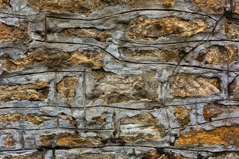 Textura áspera de piedra de la pared fotografía de archivo libre de regalías