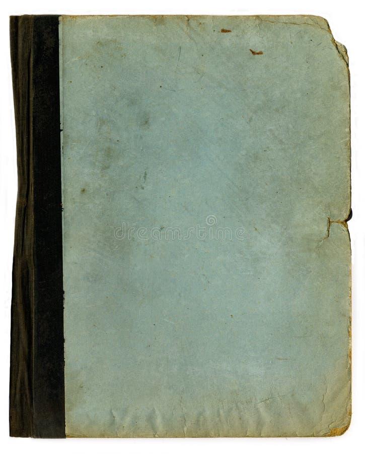 Textura áspera do dobrador ou do caderno da velha escola foto de stock