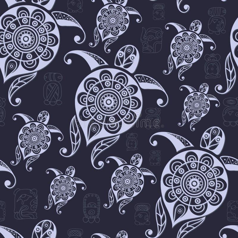Textura étnica do Maya com um totem 28 ilustração stock