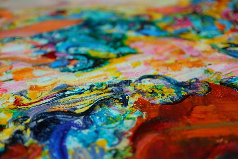 Textura, óleo, pintura, artista, Roman Nogin, fundo - mão-desenho imagens de stock royalty free