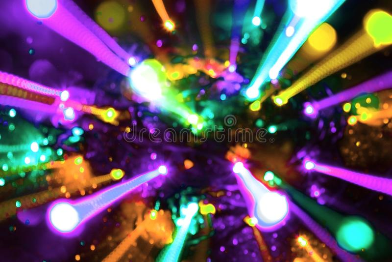 Textura ótica movente colorida dos raios do fio - fundo abstrato bonito da foto ilustração royalty free