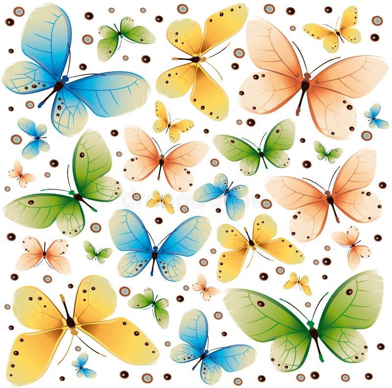 Textura 2 de los colores de las mariposas stock de ilustración