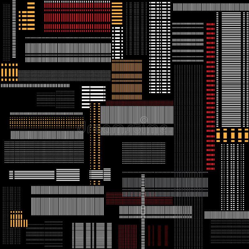Textura abstracta. Abstracción blanco y negro, integrada por blanco stock de ilustración