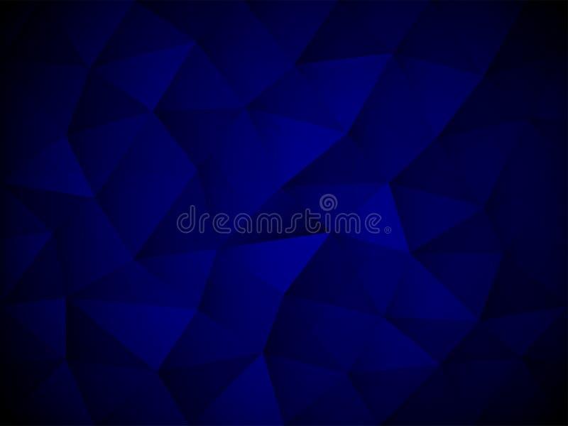 Textura abstracta azul del polígono ilustración del vector