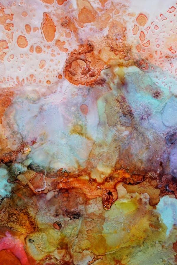 Textura abstracta colorida de la pintura imagen de archivo libre de regalías