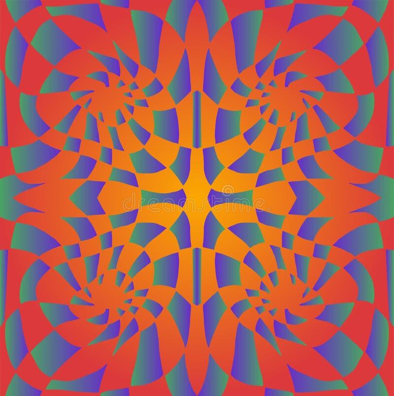 Textura abstracta colorida trippy psicodélica brillante, amarillo-naranja de la pendiente, y violetas colores esmeralda brillante libre illustration