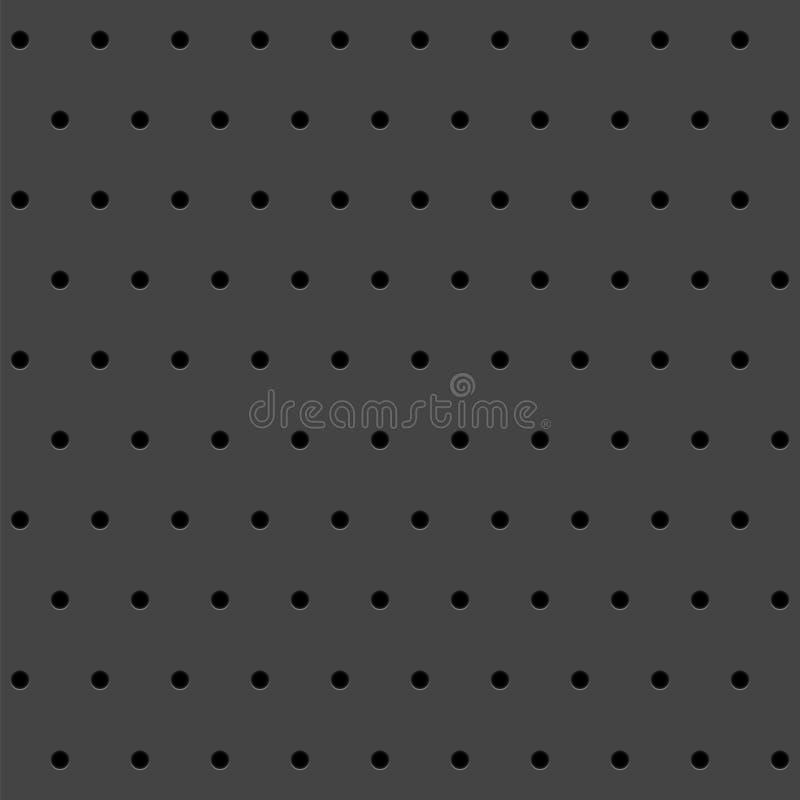 Textura abstracta con los agujeros perforados redondos Fondo del vector ilustración del vector