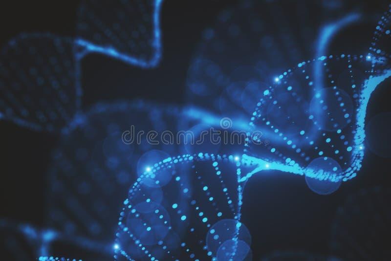 Textura abstracta de la DNA imágenes de archivo libres de regalías