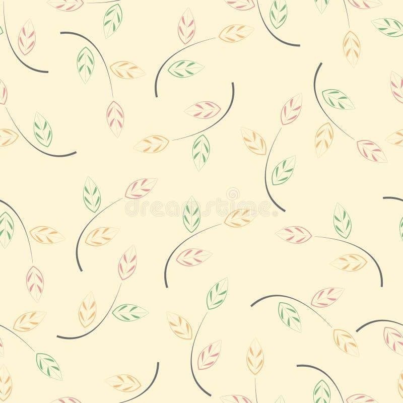 Textura abstracta de la hoja libre illustration