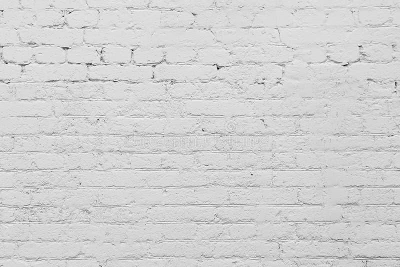 Textura abstracta de la pared de ladrillo pintada blanca imágenes de archivo libres de regalías