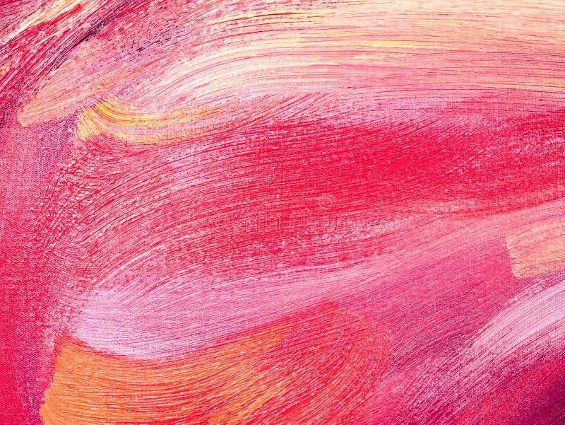 Textura abstracta de la pintura de aceite en lona fotos de archivo libres de regalías