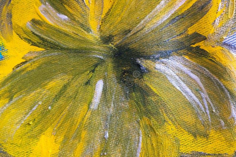 Textura abstracta de la pintura de aceite en la lona, fondo de la pintura textura colorida de la pintura stock de ilustración