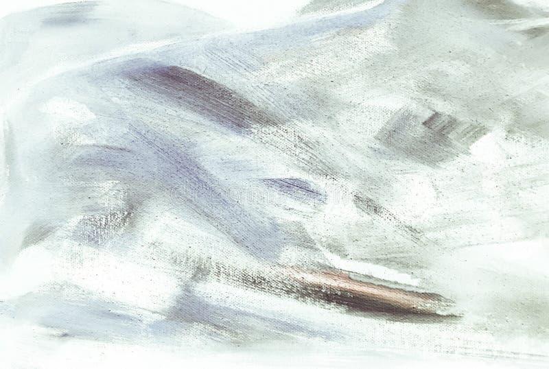 Textura abstracta de la pintura acrílica del aceite en la lona, fondo pintado a mano UNO MISMO HECHO Fondo pintado de acrílico ab imágenes de archivo libres de regalías