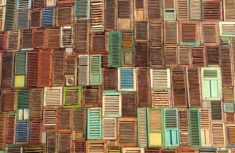 Textura abstracta de madera de la ventana fotos de archivo