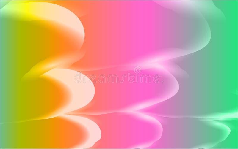 Textura abstracta de ondas brillantes airosas ligeras luminosas hermosas inusuales de líneas de multicolor mágico mágico enérgico stock de ilustración