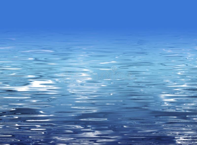 Textura abstracta del agua - ilustración de la playa ilustración del vector