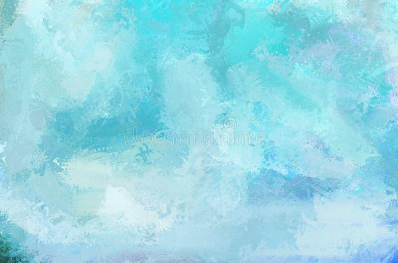 Textura abstracta del color de la pintura Cielo azul imagen de archivo libre de regalías