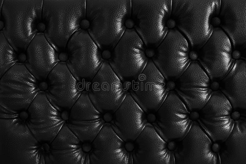 Textura abstracta del fondo del cuero con rombos Modelo sucio negro clásico de la pared retra, sofá, puerta, estudio fotografía de archivo libre de regalías
