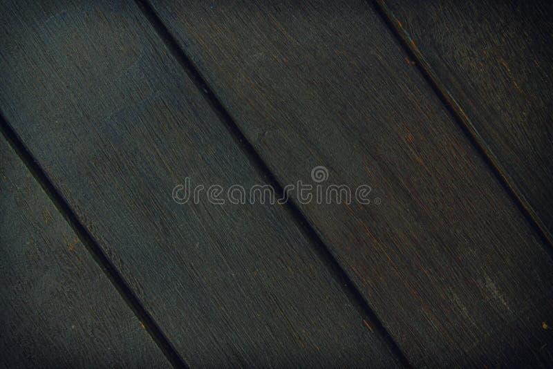 Textura abstracta del fondo del decking de madera con los tablones paralelos con huecos foto de archivo