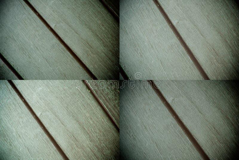 Textura abstracta del fondo del decking de madera con los tablones paralelos con huecos imagen de archivo