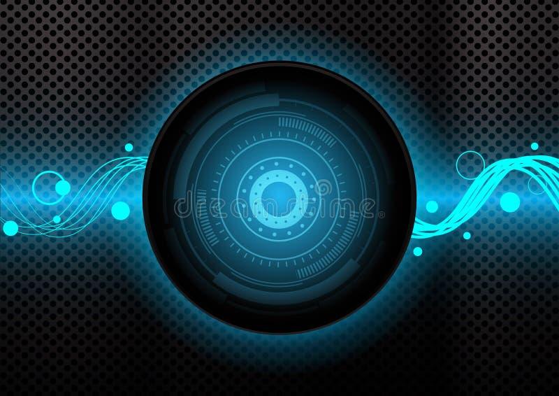 Textura abstracta del fondo del círculo para el sitio web o la aplicación móvil ilustración del vector