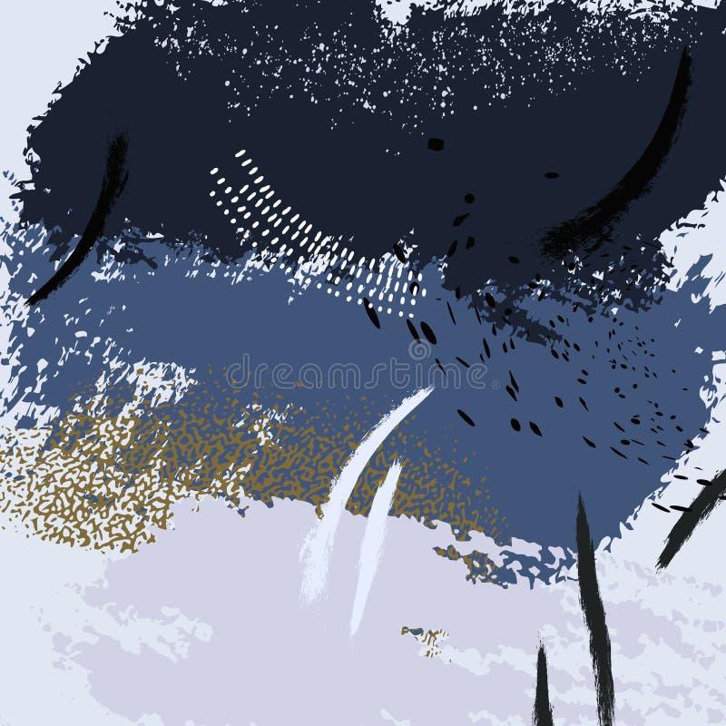 Textura abstracta del Grunge, mezcla de pinturas acrílicas Bueno para la cubierta del diseño, presentación, invitación, aviador,  stock de ilustración
