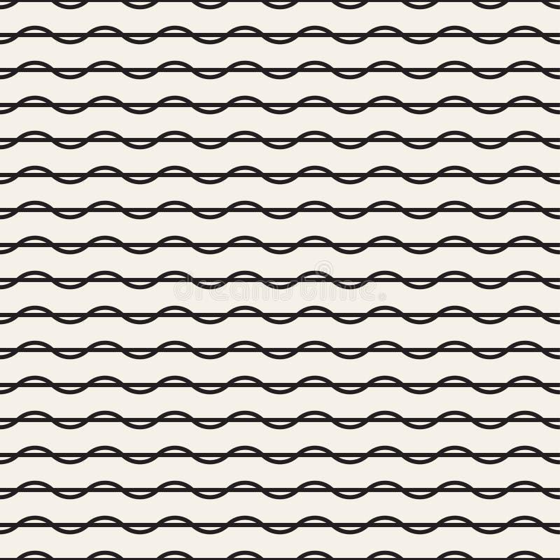 Textura abstracta del vector con las curvas lineares torcidas ilustración del vector