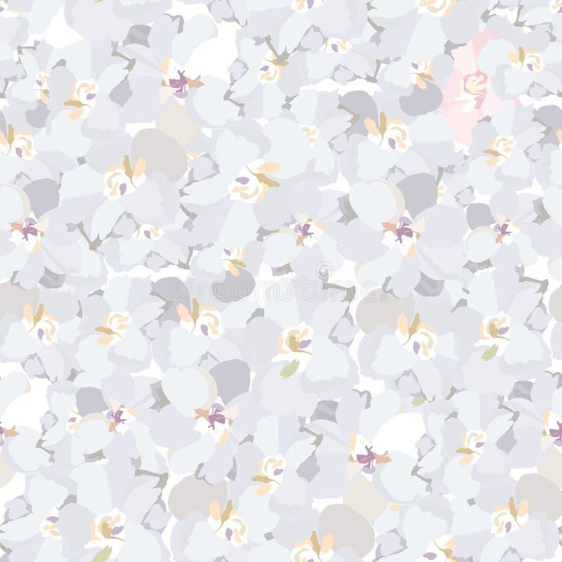 Textura abstracta del vintage de la flor del remolino stock de ilustración
