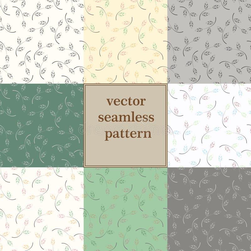 Textura abstracta determinada de la hoja ilustración del vector