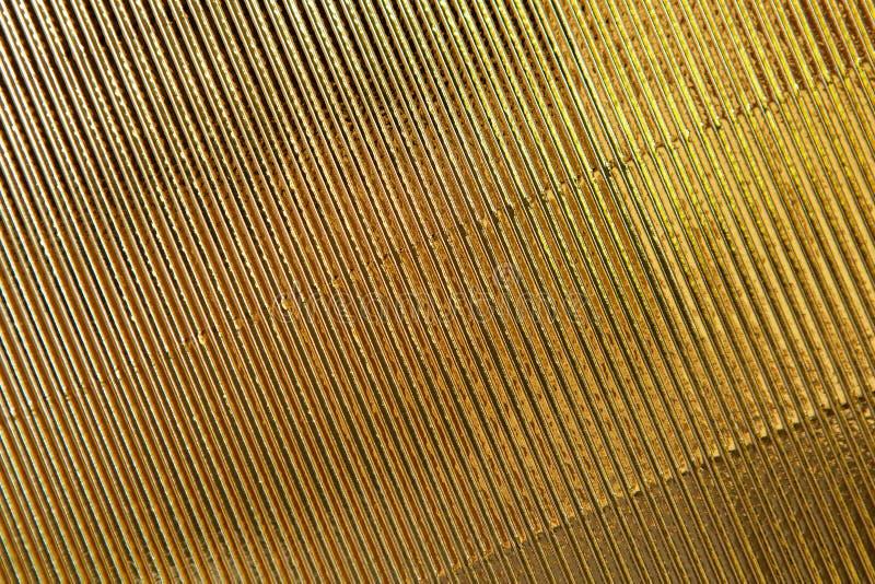 Textura abstracta Fondo de papel acanalado del oro Copie el espacio para el texto horizontal Celebraci?n, concepto de los d?as de imágenes de archivo libres de regalías
