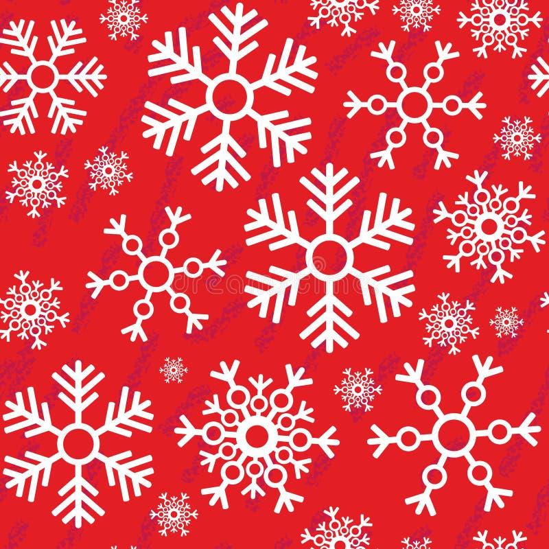 Textura abstracta inconsútil 518 del grunge del copo de nieve stock de ilustración