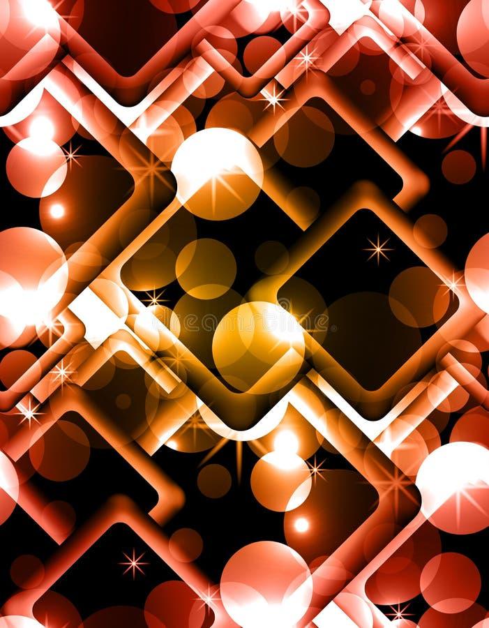 Textura abstracta inconsútil con los círculos, chispas, Rhombus ilustración del vector