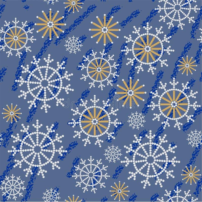 Textura abstracta inconsútil 534 del grunge del copo de nieve stock de ilustración