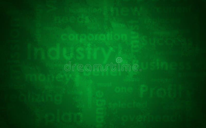 Textura abstracta Palabras y verde del negocio de Blured foto de archivo