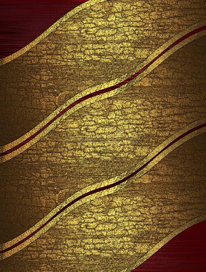 Textura abstracta roja con las cintas amarillas agrietadas libre illustration