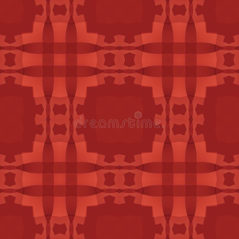 Textura abstracta roja Modelo de la impresión de la materia textil Ejemplo simple del fondo Teja inconsútil cuadrada Muestra case stock de ilustración