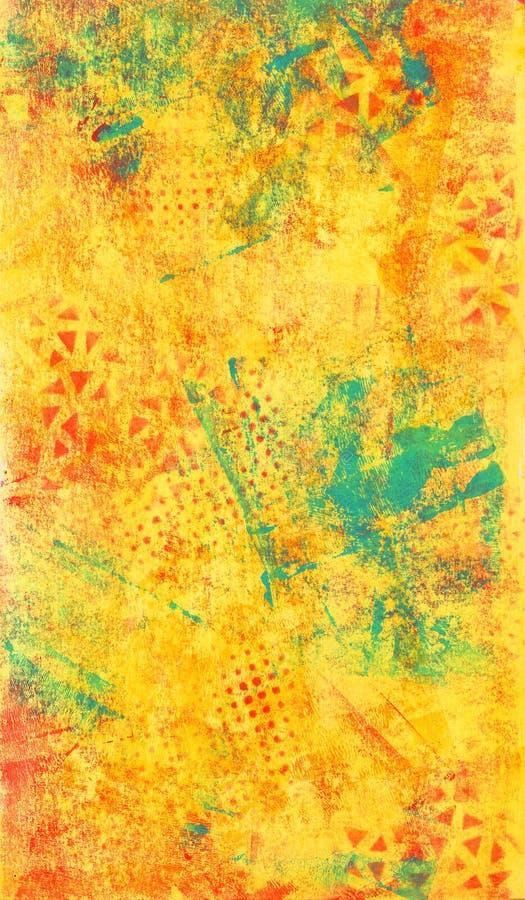 Textura abstrata amarela e azul imagens de stock