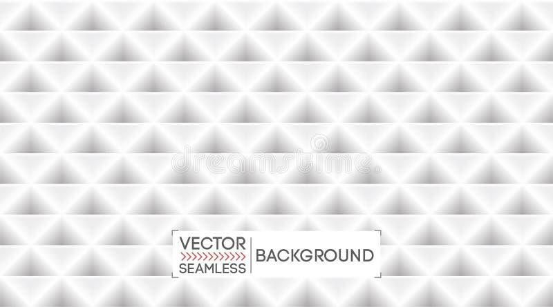 Textura abstrata branca do teste padrão do fundo Contexto geométrico sem emenda claro dos triângulos Bandeira do negócio, molde d ilustração do vetor