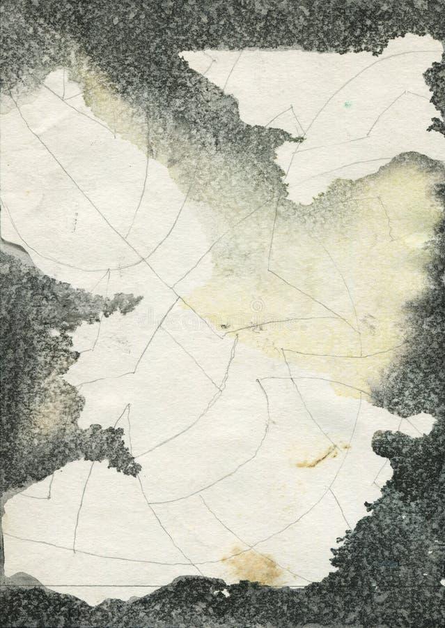 Textura abstrata da aguarela do grunge imagens de stock royalty free