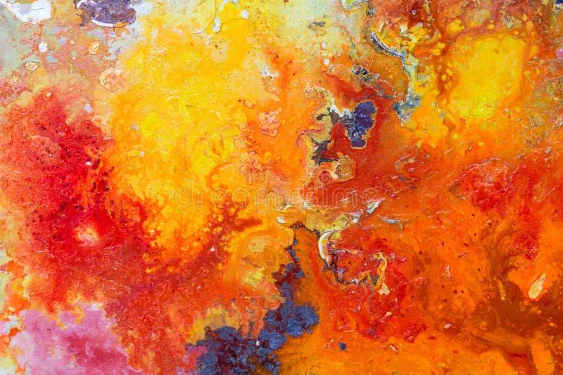 Textura abstrata da cor da pintura Fundo artístico brilhante em r fotos de stock