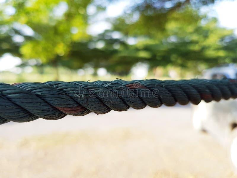 Textura abstrata da corda de nylon imagens de stock