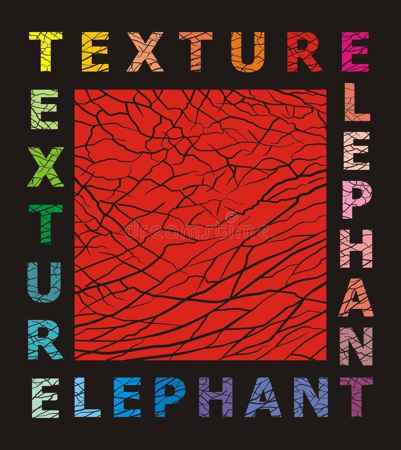 Textura abstrata da pele do elefante ilustração royalty free