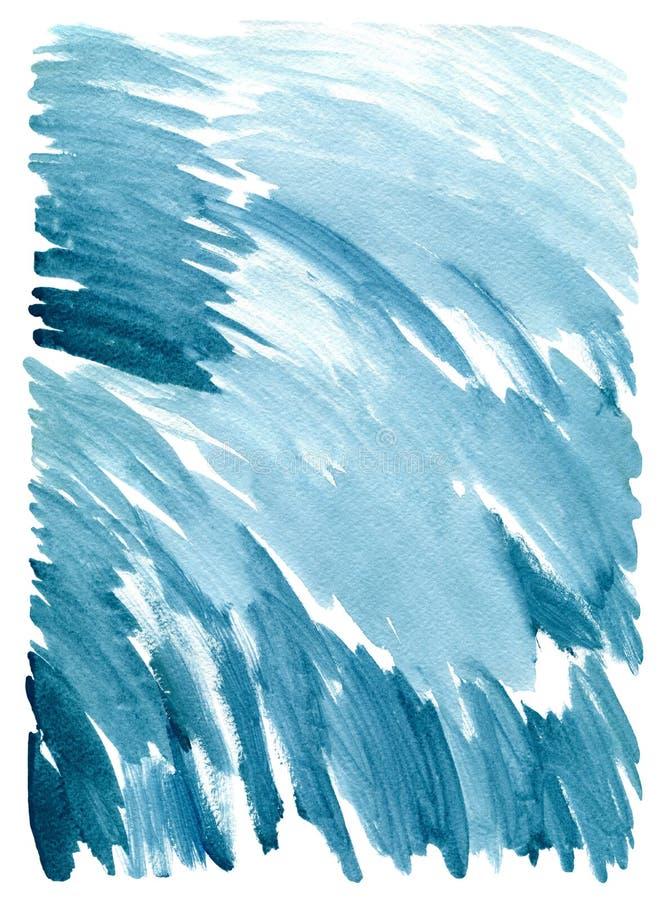 Textura abstrata da pintura na lona, fundo, isolado no fundo branco ilustração do vetor