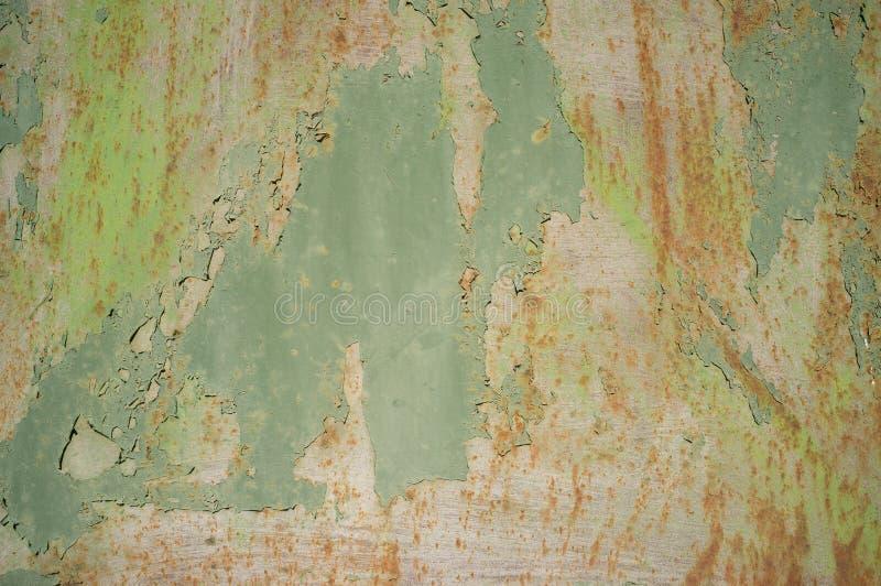 Textura abstrata da porta corro?da velha do metal fotografia de stock royalty free