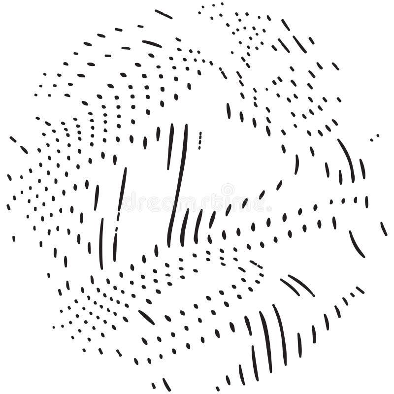 Textura abstrata de curvar linhas ilustração do vetor