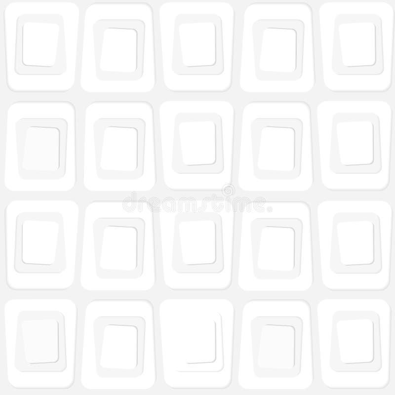Textura abstrata de formas quadradas no estilo dos anos sessenta ilustração do vetor