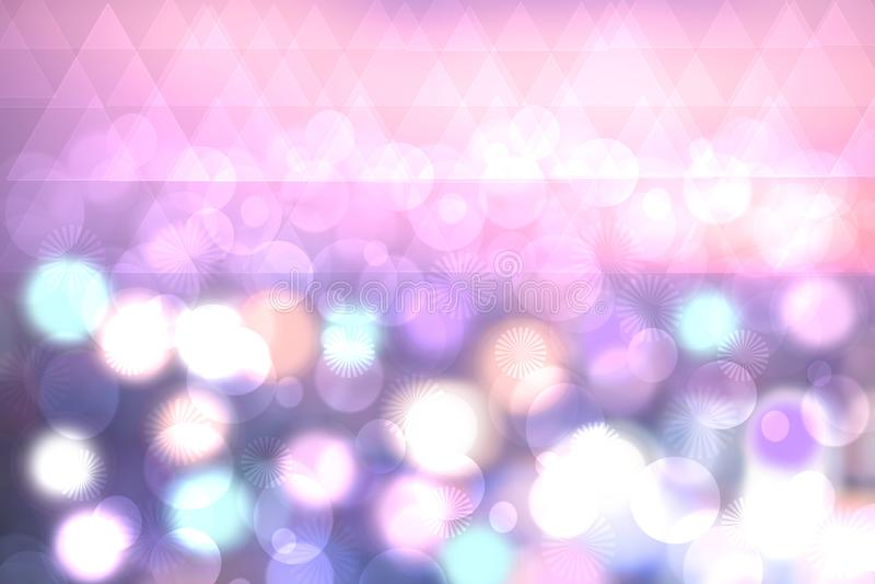 Textura abstrata do bokeh claro pastel festivo colorido com blurre imagem de stock